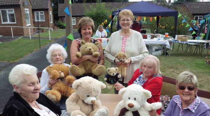 From left, Audrey Higgins, 83, Gwynedd Brown, 91, retirement Living Co-ordinator Carol Preece, Cynthia Eagle, 78, Eileen Broome, 88, and Margaret Bailey, 78