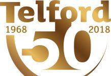 Telford 50 anniversary logo
