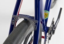 The brake bridge created by Fabweld Steel Products for Bicycles By Design