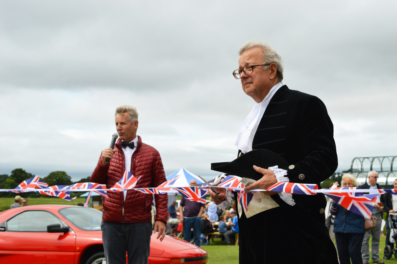Clive Knowles Chairman of The British Ironwork Centre & Shropshire's High Sheriff, Charles Lillis