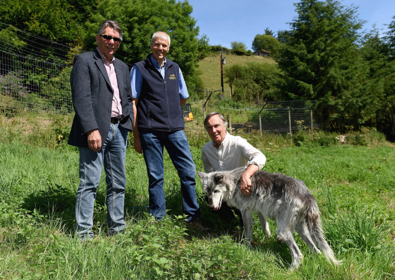 Roger Coy (Roger Coy Partnership), Dr Mark Cowley (ListersGeo) and Tony Haighway (Wolf Watch UK)