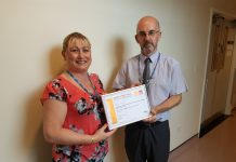 Jo Bayliss, Training Manager at RJAH and Allen Edwards, Training Advisor at RJAH
