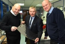 New sales new jobs: Stuart Weston, Chris Ball and Ian Whateley from Advanced Chemical Etching in Telford