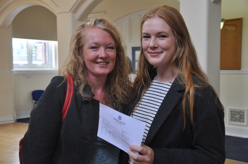 Straight A student Molly Garner celebrates with mum