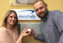 Dave Williams from Henshalls with BCA's Rhea Alton
