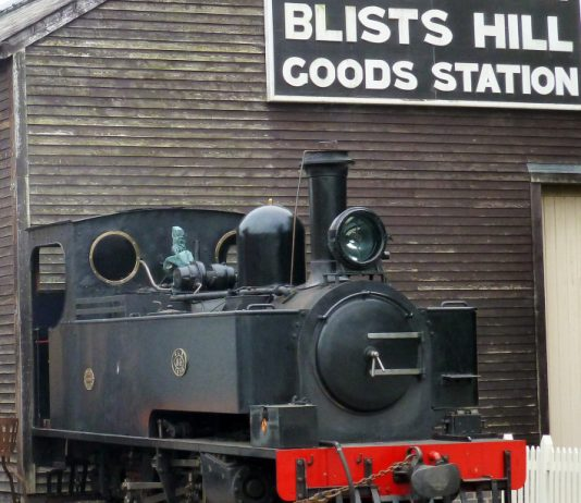 Locomotive No 85 at Blists Hill Victorian Town. Photo: Charles Spencer, W&LLR