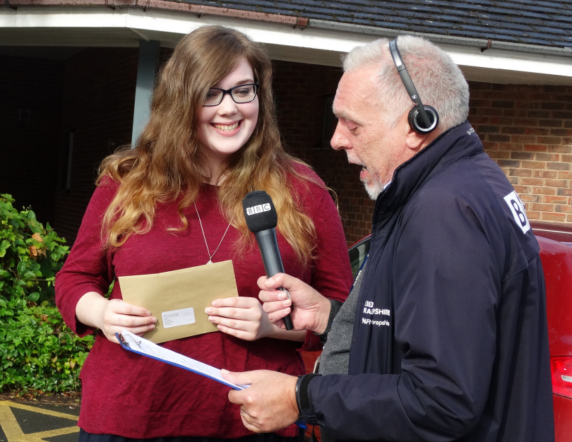 Phoebe Owen chats about her results to Ian Perry of BBC Shropshire