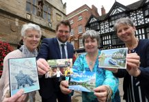 Jo Allmond, Volunteer for Safe Shropshire; Seb Slater, Executive Director of Shrewsbury BID; Ruby Hartshorn, Chairperson of the Shropshire Disability Network; Ann Shaw, Secretary of the Shropshire Disability Network