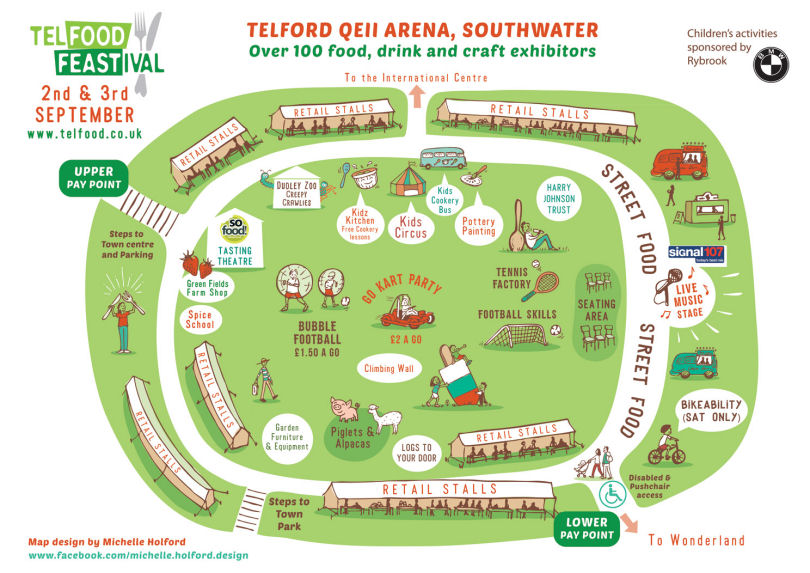Telford Food Festival Map