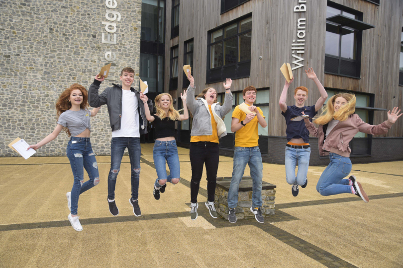 Pictured from left to right: Helena Godfrey, Isaac James, Katie James, Lucy Harper, Tom Grant, Robbie Cooper and Imogen Fawcett