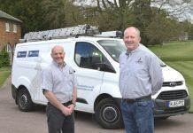 Customer care duo Mark Leece and Mark Johnson