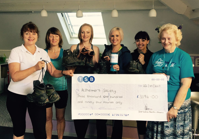 Pauline Lacey - Proprietor of Zest, Sarah Morris – gym member,  Evie Lacey – Personal Trainer, Kira Griffiths – gym member, Mikaela Warburton – Gym Instructor, Val Brown – Alzheimer's Volunteer for Shropshire