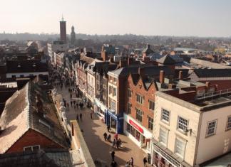 Shrewsbury's Pride Hill. Photo: Michael Longlane Photography.