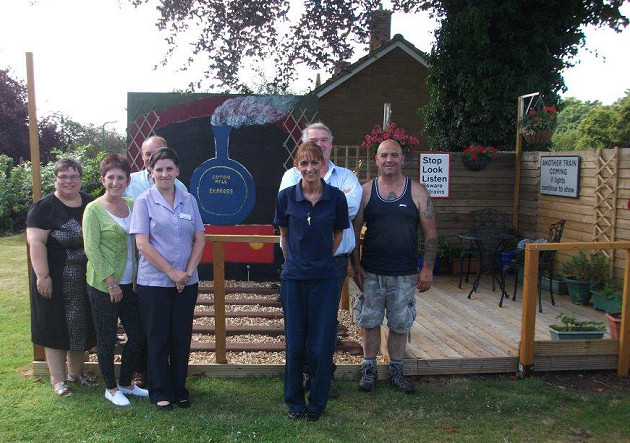 The Coverage Care team at Coton Hill House which developed the innovative garden.