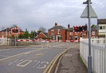 Wem Level Crossing. Photo: Copyright P L Chadwick and licensed for reuse under this Creative Commons Licence