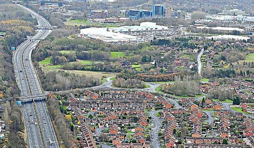 Telford from the air