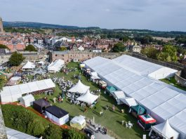 Ludlow Food Festival takes place in the grounds of Ludlow Castle