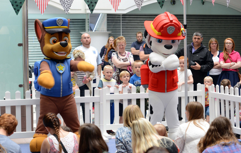paw patrol stars meet hundreds of children in shrewsbury