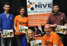 Staff and volunteers at The Hive which has secured funding from Arts Council England. Photo: The Hive