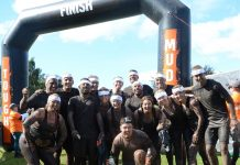 The Lyreco team after successfully finishing the Tough Mudder