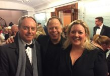 Actor Robert Daws from BBC's Poldark who narrated Peter and The Wolf with John Moore – conductor, and Hollie Whittles – principal clarinet