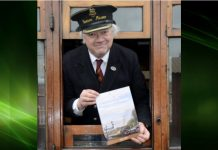 Bridgnorth Station master, Chris Thomas, celebrates the first magic million