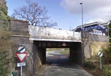 The bridge on which Albrighton station is located. Photo: Google Streetview