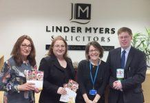 Karen Broster, Emma Wing, Sarah Johnson (Hope House) and Richard Ashton
