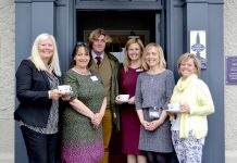 Pictured at the launch of Bridgnorth is Business, from left, Ruth Burley, organiser, Jo Frith, organiser, Dr Tim Jenkins, speaker, Rachel Wood, organiser, Louise Welsby, organiser and Wendy Yates of the Woodberry Inn