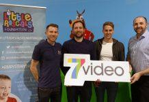 Ben Wootton (Director of Little Rascals Foundation), Simon Wilderspin (7video), David Edwards (Director of Little Rascals Foundation and Wolves and Wales Footballer), Pete Sims (Director of 7video)