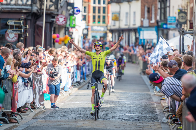Chris Pook of Estate Agents Cooper Green Pooks, who won the Men's Regional A Support at the Shrewsbury Grand Prix in 2017. Photo: Steven Oliver Photography
