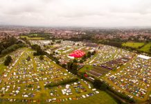 Only 20 per cent of tickets remain for this year's Shrewsbury Folk Festival. Photo: Virtual Shropshire / dronerangers.co.uk