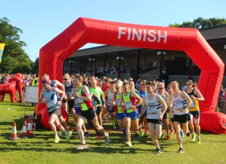 Runners leave the start line of the Shrewsbury Half Marathon. Photo: Pic2Go UK Ltd