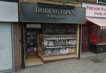 The rings were stolen from Dodington's Jewellers in Whitchurch. Photo: Google Street View
