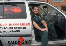 Ed Hullah is attempting to travel from Salop to Saigon in his 2004 Volkswagen Polo. Photo: West Midlands Ambulance Service