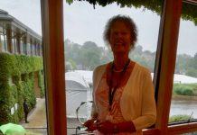 Merill Holt received her award at Wimbledon
