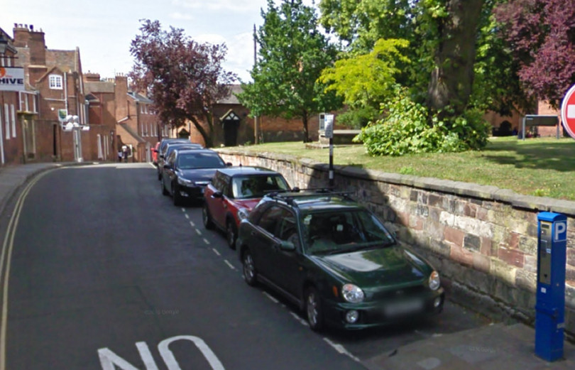 On street parking at Belmont in Shrewsbury. Photo: Google Street View