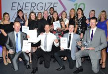 Eddie 'The Eagle' Edwards, guest of honour at last year's Energize awards, pictured with the winners