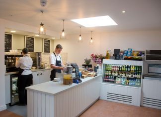 The new tearoom offers visitors and passers-by a range of locally sourced, fresh and seasonal food. Photo: English Heritage