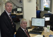 Tony Conlon and Charlie Gunter from the Henshalls Health and Safety Team