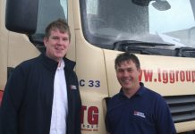 Paul Morris and Jon Griffiths swap roles at TG Builders' Merchants' in Ellesmere and Oswestry