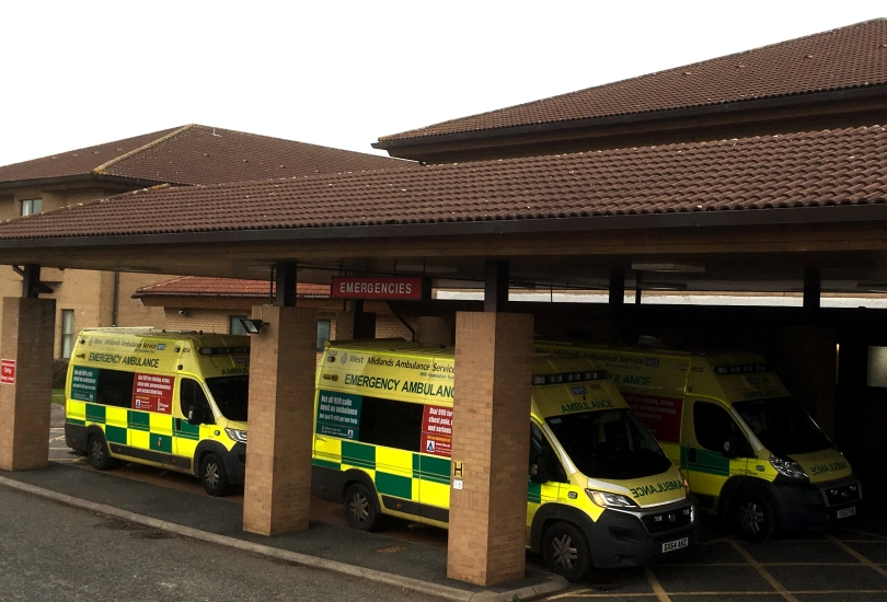 A&E at the Princess Royal Hospital in Telford