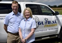Anton Gunter, National Sales Manager and Nicole Gunter, Managing Director at Global Freight