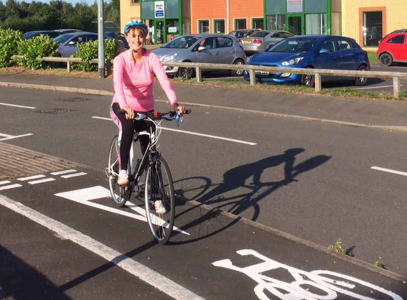 """Cycling to and back from work gives you a """"buzz,"""" says Telford's Carol Smith"""