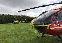Two air ambulances were called to the incident. Photo: @MAAHMED09