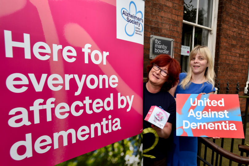 Emma Dowler from the Alzheimer's Society and Michelle Monnes-Thomas from FBC Manby Bowdler