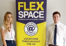 A champion for SMEs: Luke Jones, newly appointed Centre Manager of Flexspace Shrewsbury, with receptionist Alice Clarke