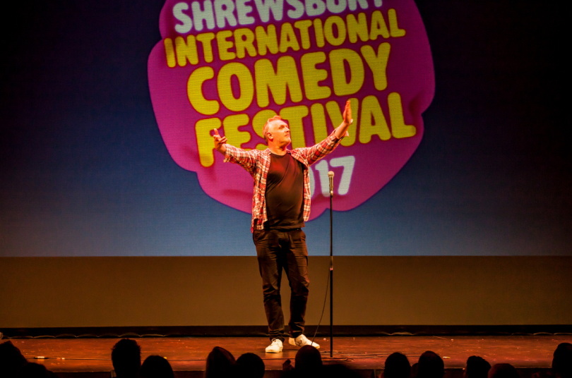 Greg Davies performs at Theatre Severn during SICFest 2017. Photo: Michael Longlane Photography