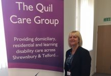 Jacqui Houston, new manager of Quil Care Group, Shrewsbury