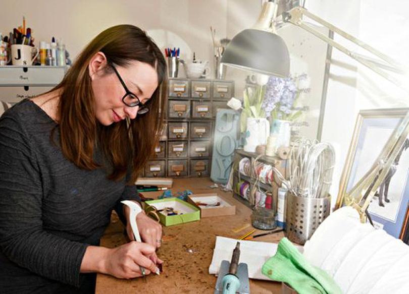 Jenny Newall, glass artist and organiser of the 'Secret Severn Tile Challenge'